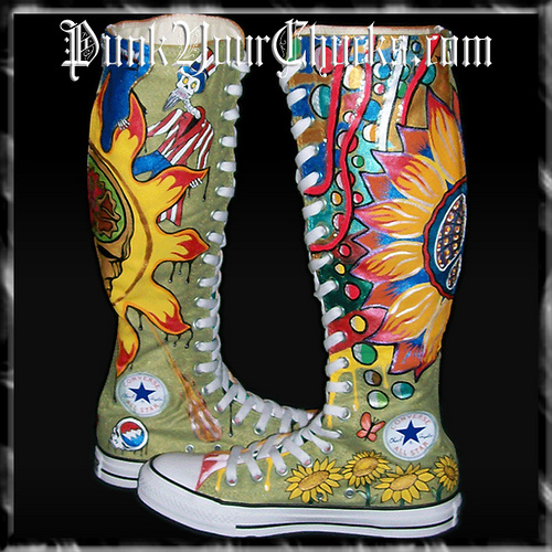 Grateful Dead KNEEHIGH Chucks insides 2.