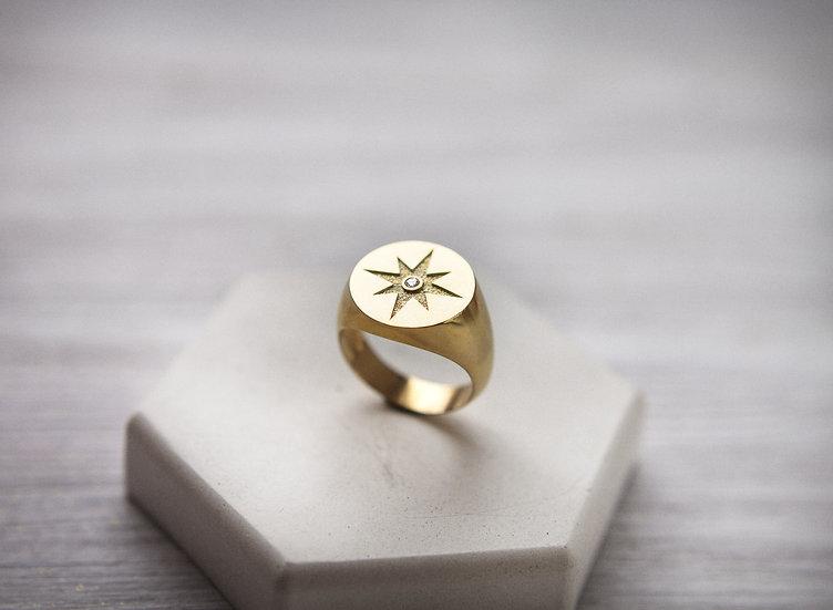 """Крупный перстень """"Северная звезда"""""""
