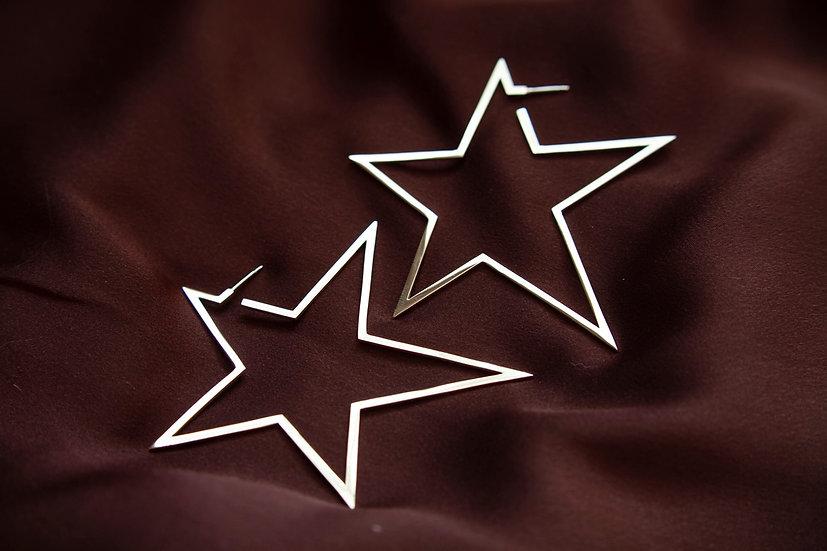 Серьги крупные звезды