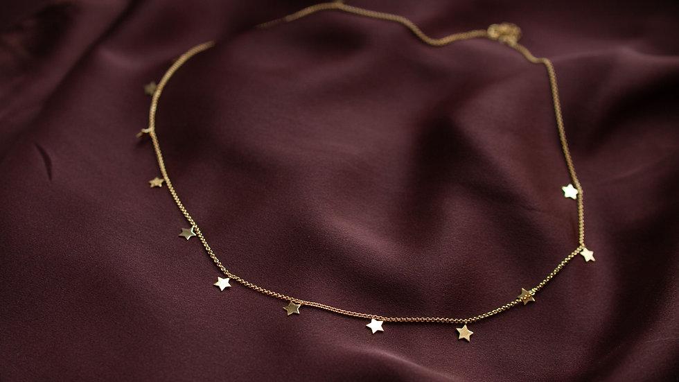 Ожерелье с плоскими звездами