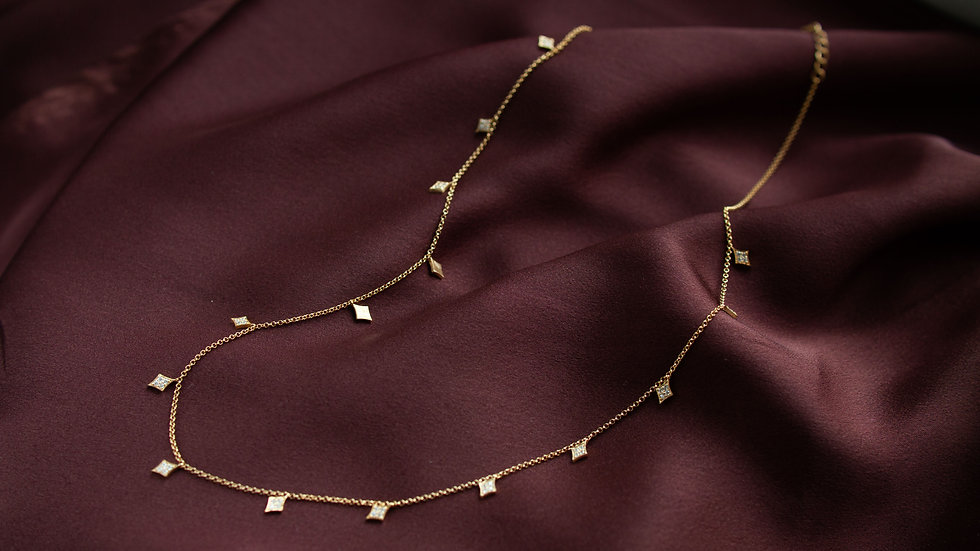 """Ожерелье с подвесками """"Ромб"""""""