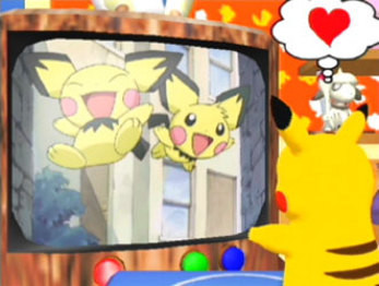 Pokemon Channel - Watching the Pichu Bros anime short