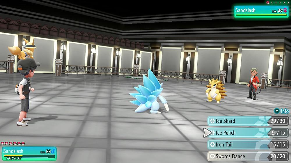 Pokemon Let's Go - Sandslash vs. Alolan Sandslash