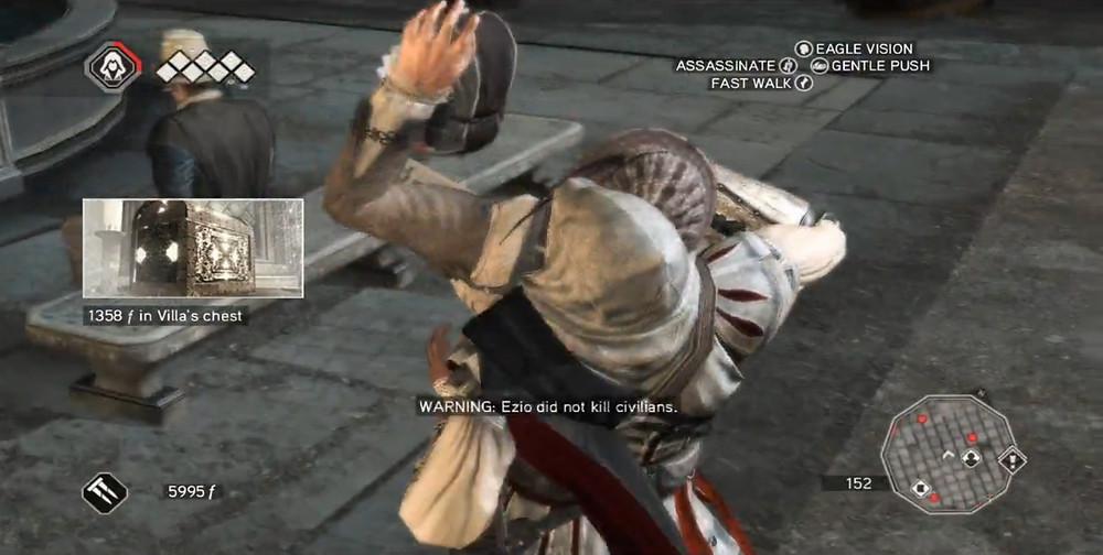 Assassin's Creed II - Ezio Kills a Civillian