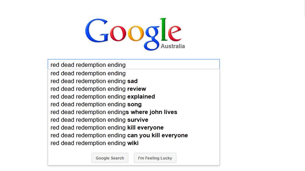 Red Dead Redemption Ending Google Results