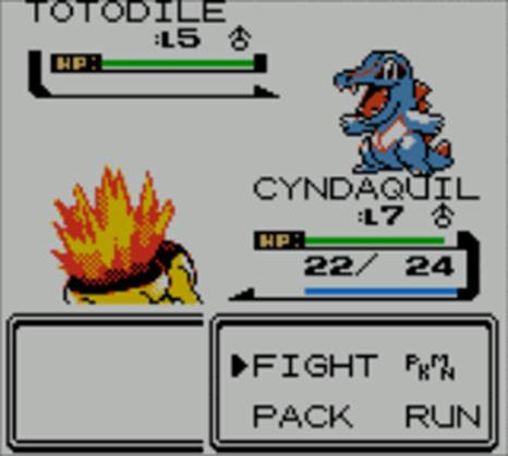 Pokemon Crystal - Pokemon Battle