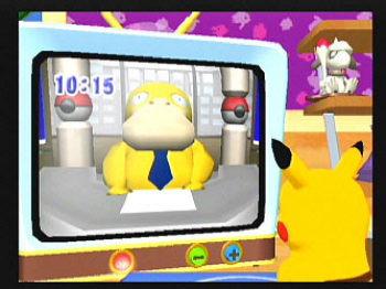 Pokemon Channel - Psyduck presenting the news