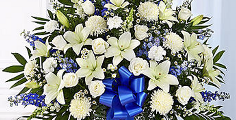 Touch of blue funeral basket