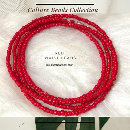Red Crush Waist Beads