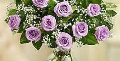 Dozen Lavendar Roses