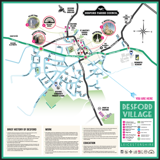 Desford Village Map