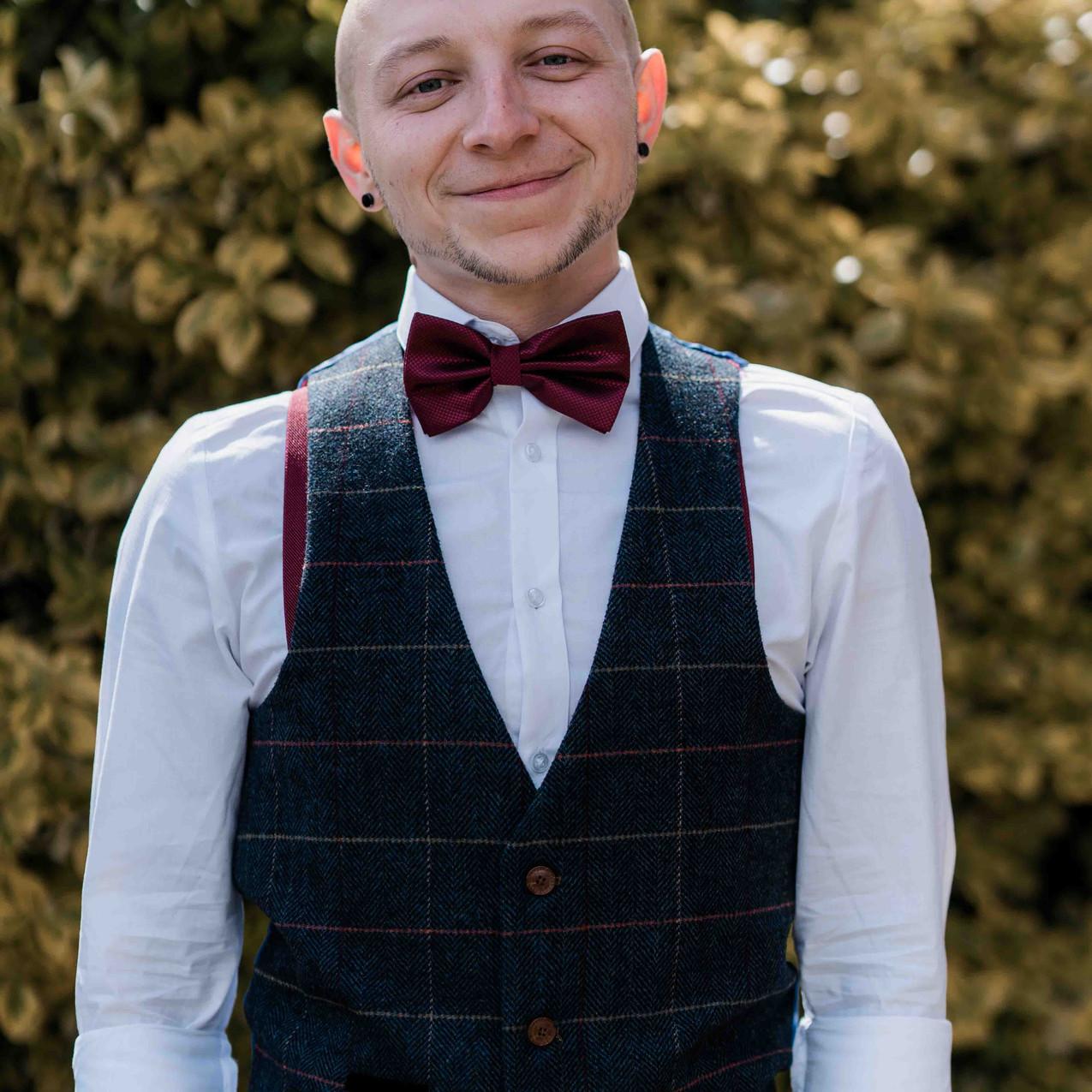 Jamie the groom preparing for weddin