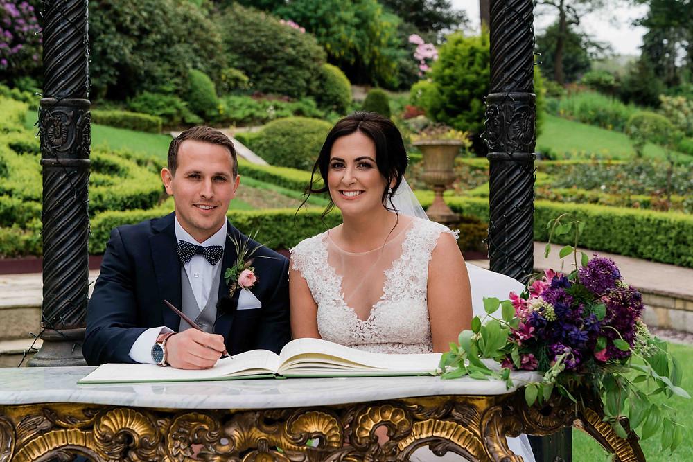 Bride and groom at Raithwaite Hall Estate wedding ceremony