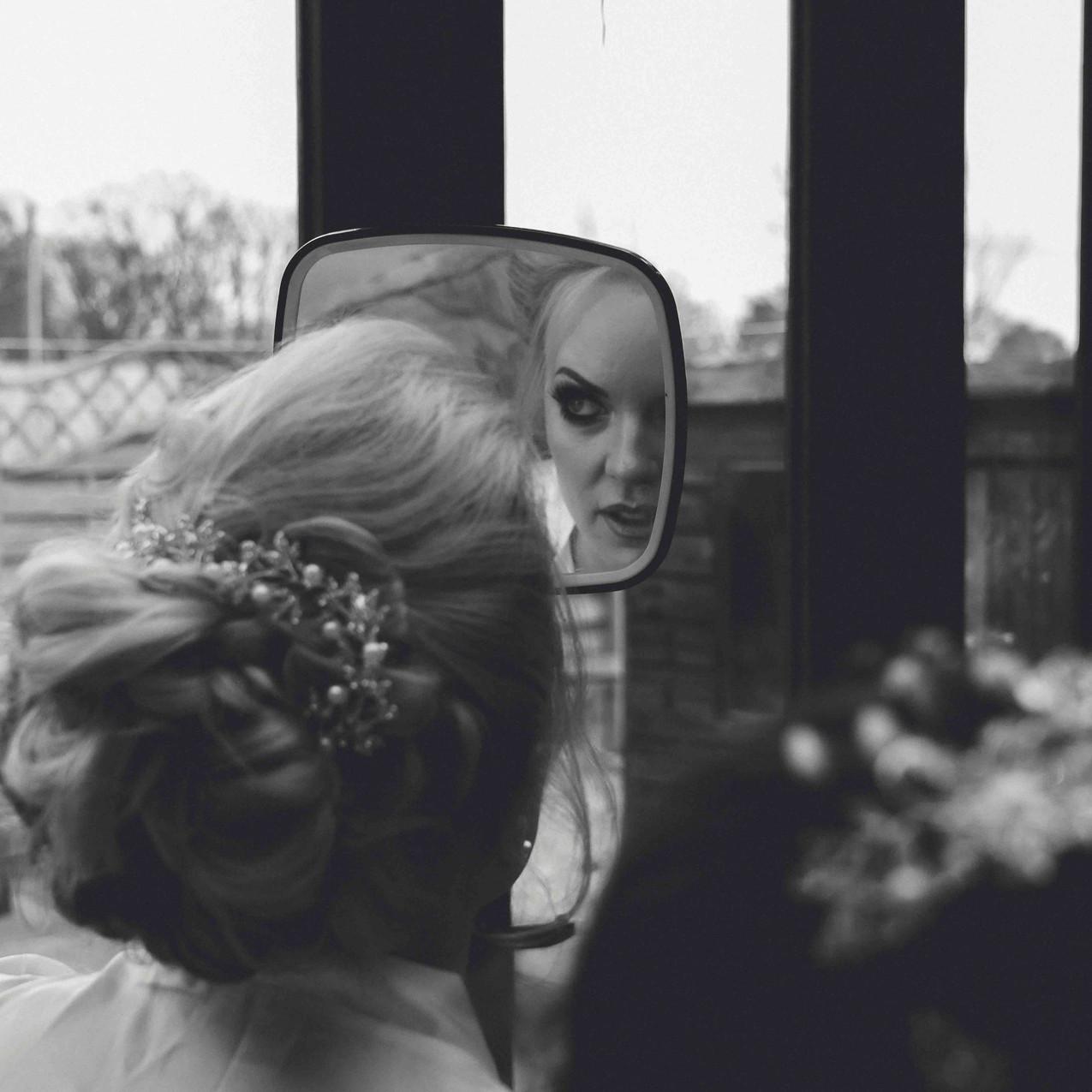 Bride getting ready in Huddersfield