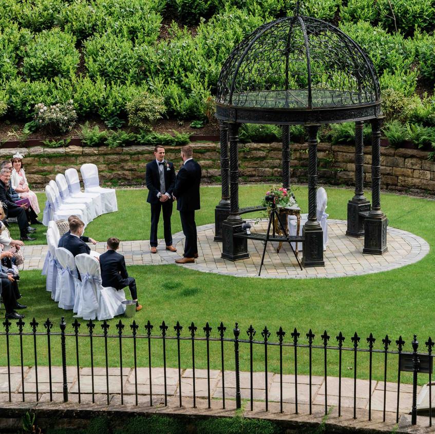 Outdoor wedding ceremony Raithwaite