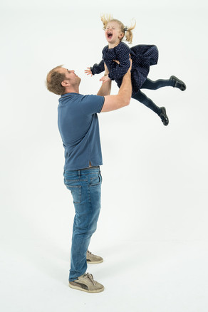 Fun studio family photographs