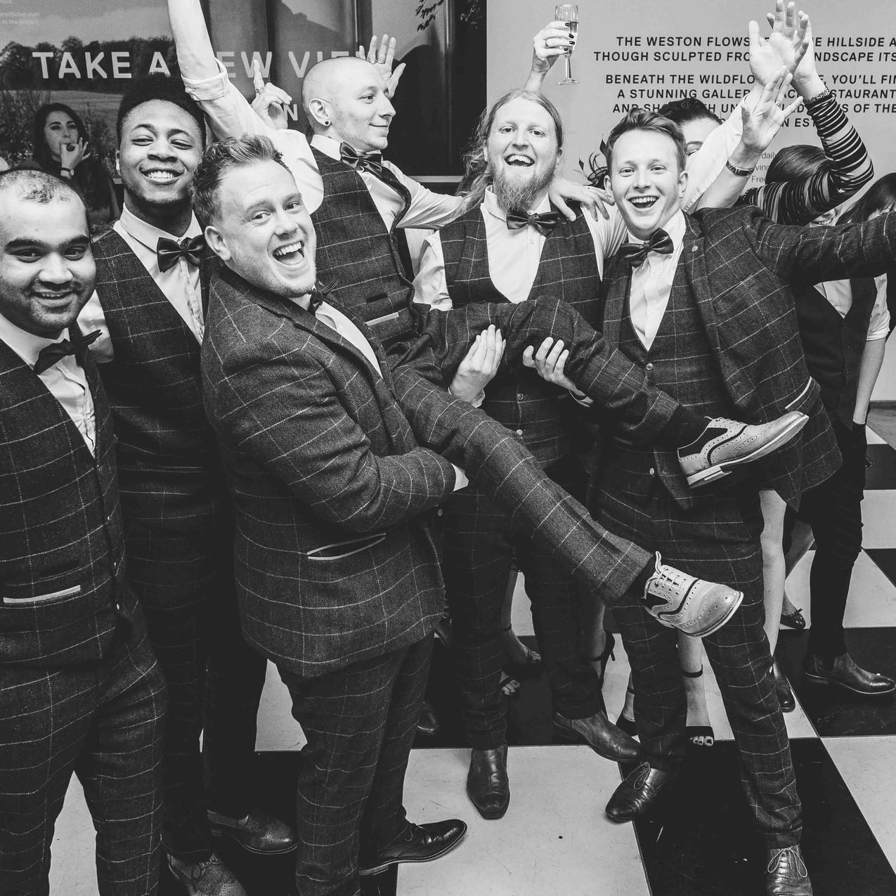 Jamie and his lads wedding