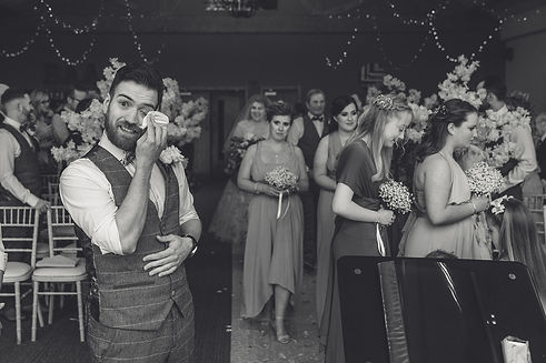 Wedding photography at Farmer Copley's in Wakefield