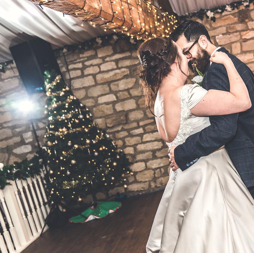 Christmas wedding photograph