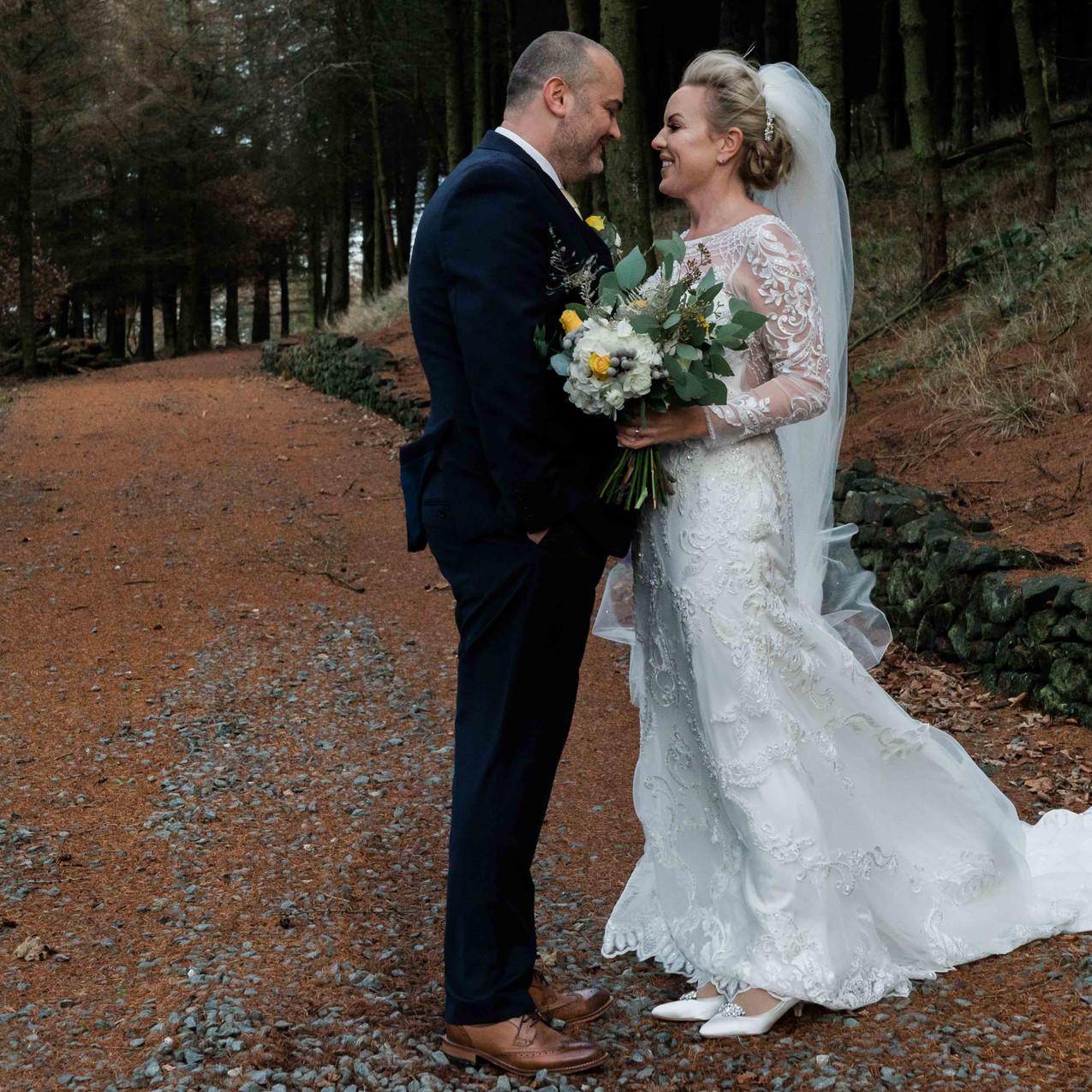 Winter woodland wedding