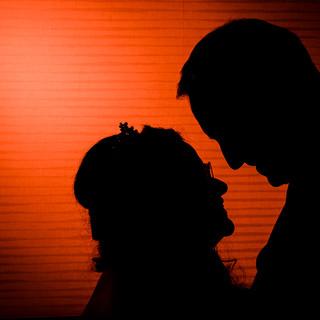 Creative silhouette photograph of wedding couple leeds yorkshire