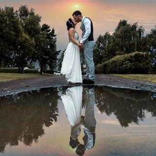 Reflections wedding photo