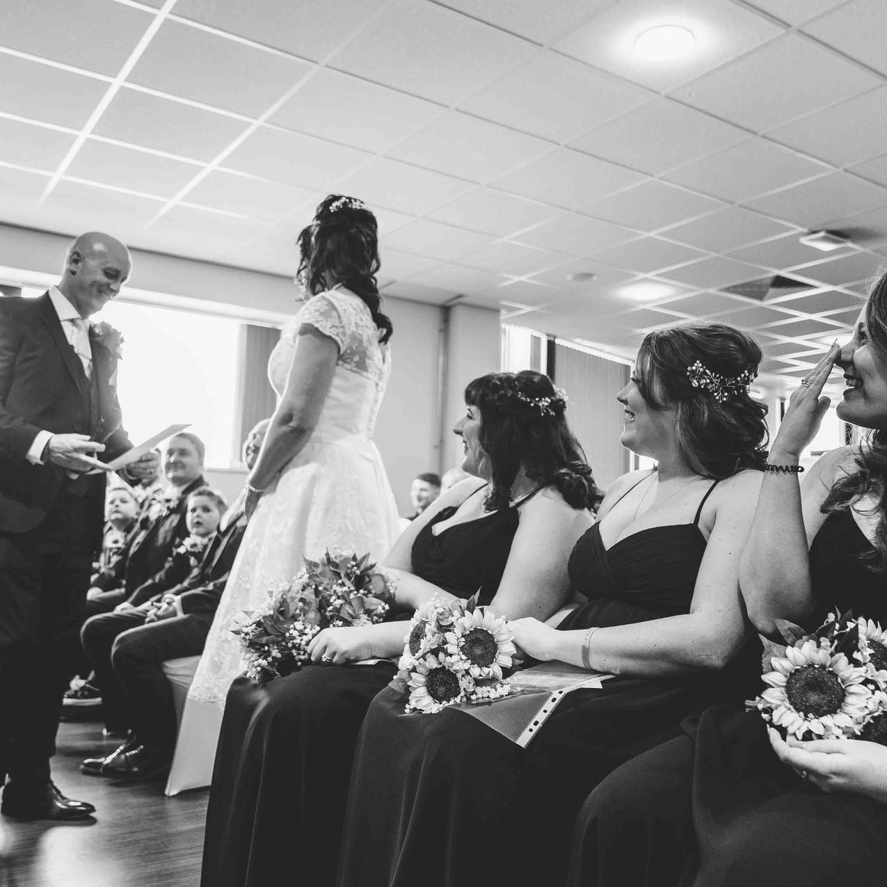 Emotional ceremony photos