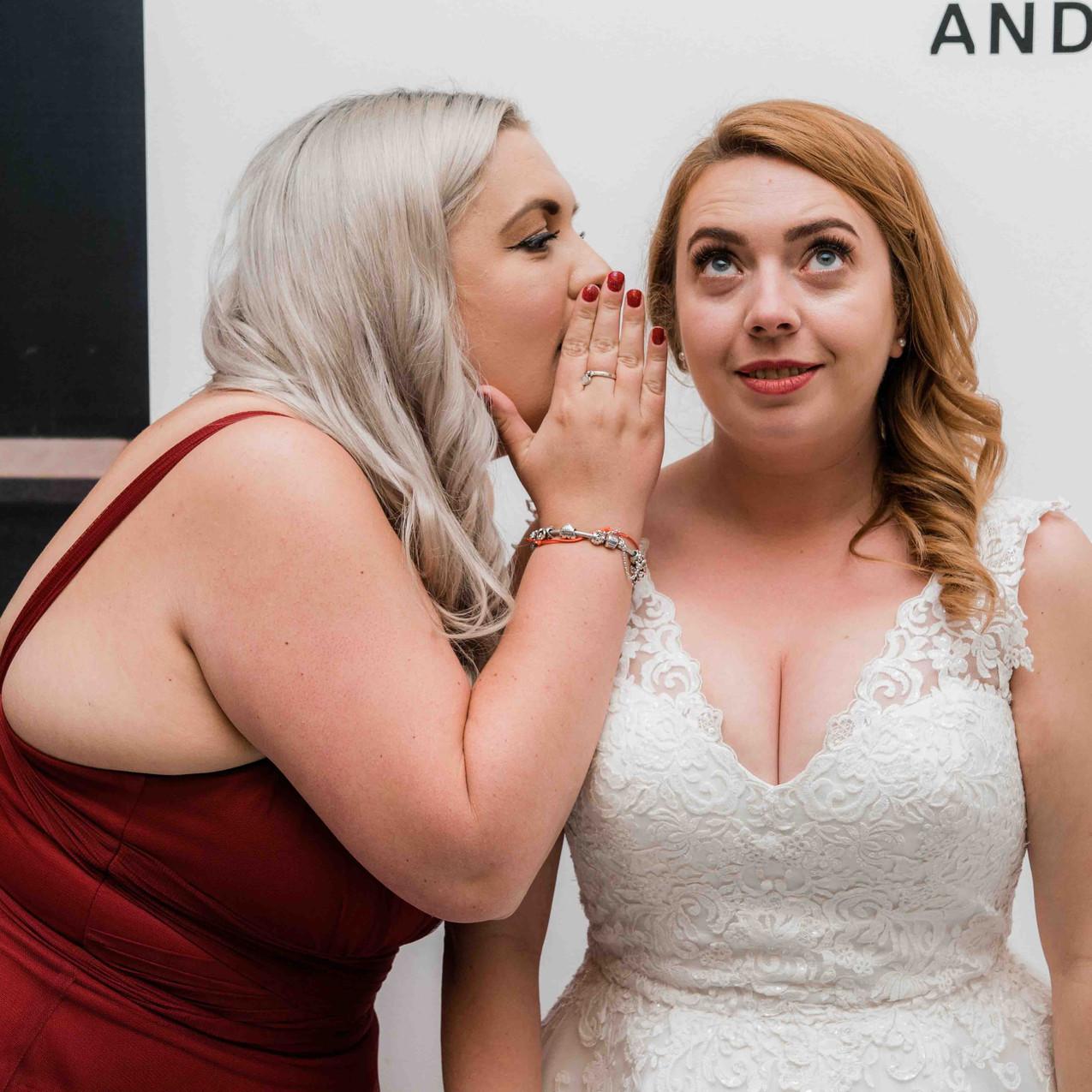 Bride and bridesmaid wedding