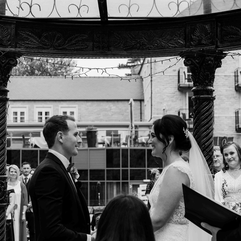 Outdoor wedding Raithwaite Hall