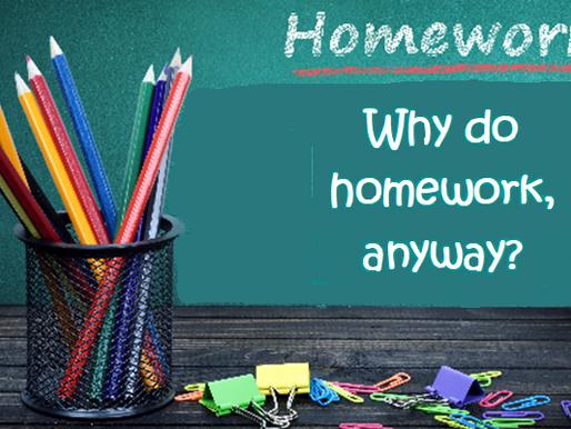 Why Give Kids' Homework, Anyway?