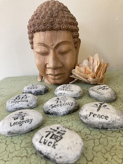 Handmade Concrete Chinese Asian Garden W