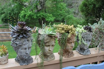Elizabethian Head Planters