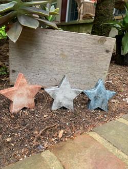 Handmade Concrete Stars USA America Decor July Fourth Decorations