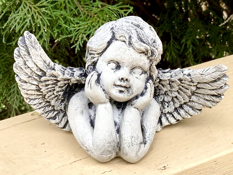 Concrete Cherub Angel with Wings Garden