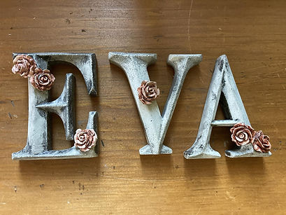 Concrete Letters with Roses