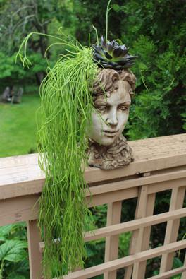 Elizabethian Head Planter