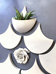 Handmade Concrete Wall Pot Fish Scale