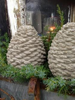 Concrete Pinecones