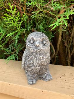 Handmade Concrete Owl Statue