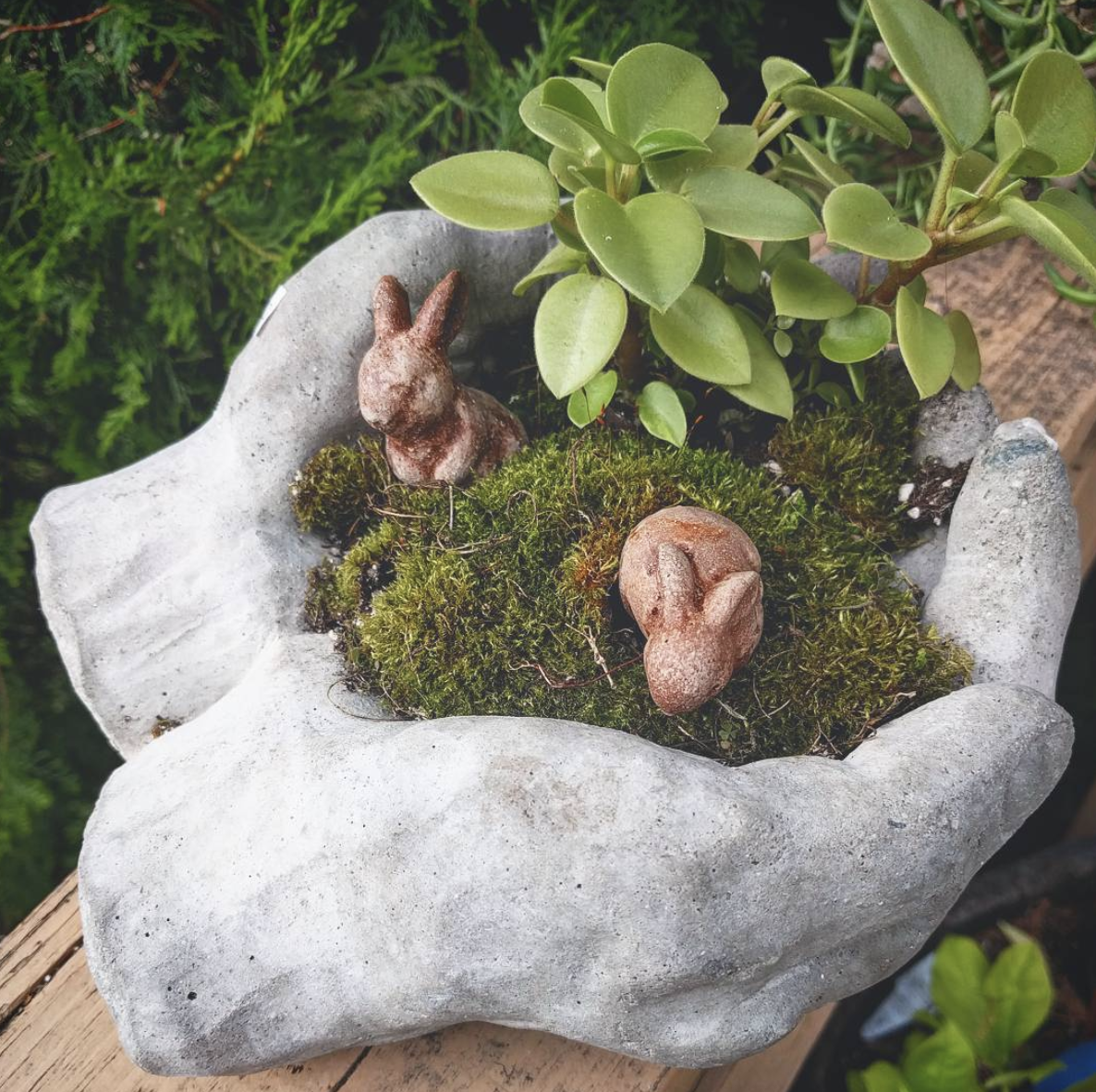 Concrete Hands Garden
