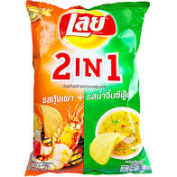 Lay's 2 n 1 Seafood and Sauce Chips (India)