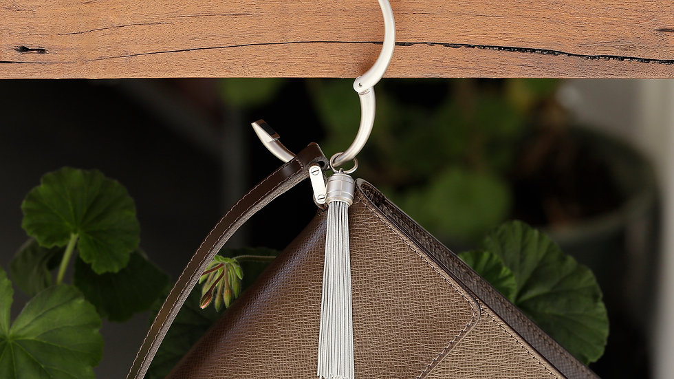 Handbag Hanger Bangle with the Tassel Charm