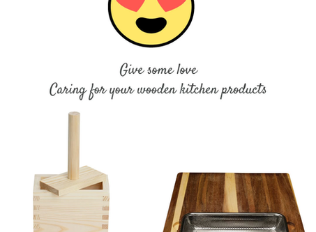 Give your Kitchen Wood Utensils & Cutting Boards some love!