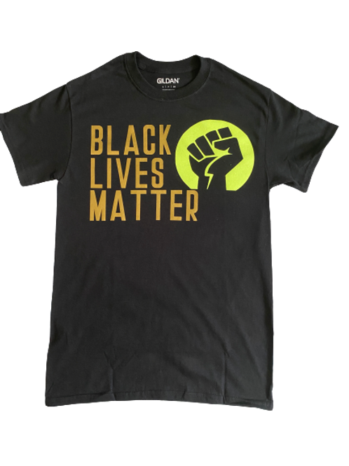 Custom Adult: Matte Black Lives Matter T-Shirt (Small, Medium)