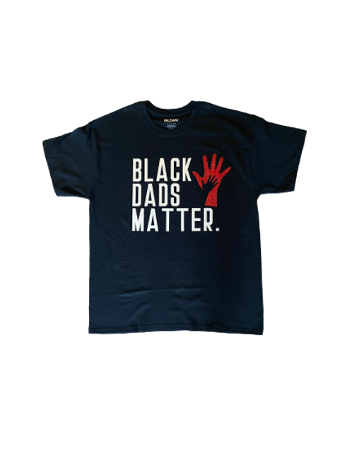 Custom Adult: Glitter Black Dads Matter T-Shirt (Small/Medium)