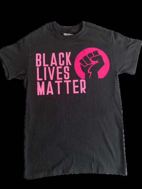 Custom Adult: Glitter Black Lives Matter T-Shirt (Small/Medium)