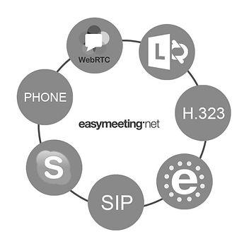EasyConference fra Easymeetinggjør det enkelt for deg å koble sammen de ulike plattformene på markedet, i ett og samme møte!
