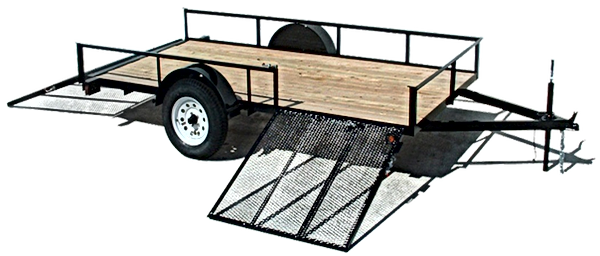 Falcon dual ramp trailer