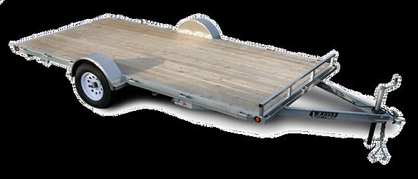 Silver eagle single axle flat bed trailer