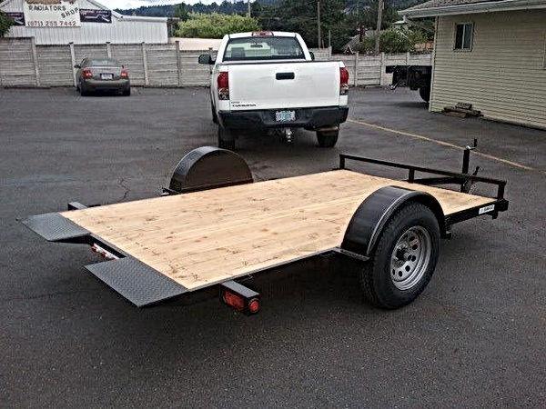 Custom single axle tiltbed trailer with approach